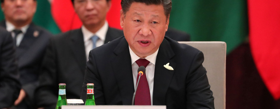 The President of the People's Republic of China Xi Jinping at the Informal Meeting of Heads of State and Government of the BRICS Countries (2017)