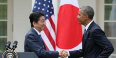 Shinzo Abe et Barack Obama, avril 2015