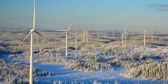 Parc éolien de Bjorkhojden en Suède