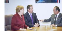 Angela Merkel, David Cameron, François Hollande