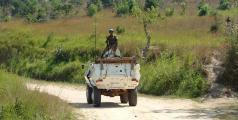 Un véhicule de la mission de maintien de la paix au Congo (Monusco), l'opération la plus importante de l'ONU dans le monde.