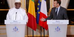 Le président malien Ibrahim Boubacar Keita et le président français Emmanuel Macron, 31 octobre 2017