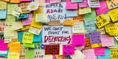 2014 - Messages laissés par des manifestants, Hong Kong.