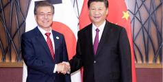 Les présidents chinois et sud-coréen discutent des relations bilatérales