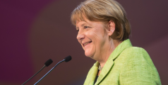 ST. JULIAN'S - MALTA, 30 March 2017: Chancellor of the Federal Republic of Germany Angela Merkel during the congress of the European People's Party (EPP)