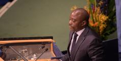 Joseph Kabila s'adressant aux Nations unies