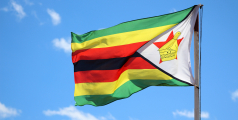 Photograph of the flag of Zimbabwe