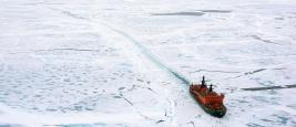 Ice-breaker in the Arctic