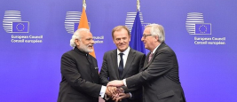 Shri Narendra Modi Donald Tusk and Jean-Claude Juncker, at the EU-INDIA Summit, in Brussels, Belgium, 30/03/2016