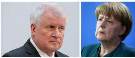 La Chancellière Angela Merkel et Horst Seehofer, ministre de l'intérieur de l'Allemagne