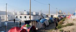 "Calais, France - October 13 2016: refugee camp ""Jungle"""