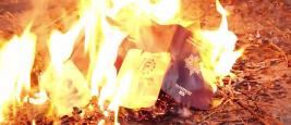 Still image taken from an ISIS propaganda video