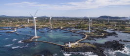 Shutterstock / Wind turbines on Juju Islands, South Korea