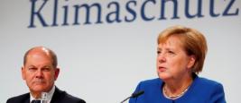 La chancelière allemande Angela Merkel lors de la conférence sur le climat de vendredi 20 septembre