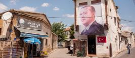A poster of Erdogan in North-Nicosia