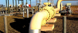 View of the Dampier to Bunburry Natural Gas Pipeline at Main Line Valve No. 7 near Dampier, Western Australia