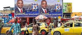 La campagne électorale pour la présidentielle ne semble guère avoir enthousiasmé les Congolais (ici Kinshasa), alors que le favori du scrutin, Emmanuel Shadary, reste encore peu connu du grand public