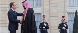 Le prince héritier saoudien Mohammed bin Salman et le président Emmanuel Macron, Paris