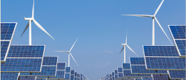 Shutterstock / solar photovoltaics panel and wind turbines generating electricity