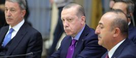 Le président turc Recep Tayyip Erdoğan lors d'une réunion avec le président iranien Hassan Rohani en Russie en novembre 2017