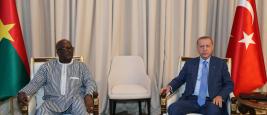 Rencontre entre le président turc Erdogan et le président burkinabé Kaboré au Togo