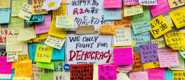 2014 - Messages left by protesters, Hong Kong