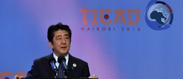 Japanese Prime Minister Abe Shinzo addresses TICAD VI