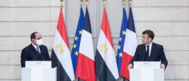 Le président égyptien Abdel Fattah Al Sissi reçu à l'Elysée par Emmanuel Macron, 7 décembre 2020