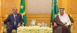 Le President mauritanien Mohamed Ould Abdel Aziz et le Roi Salmane ben Abdelaziz Al Saoud, Nouakchott, 04/01/2017