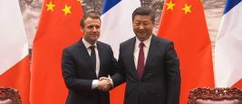 Emmanuel Macron et Xi Jinping, Pékin, janvier 2018