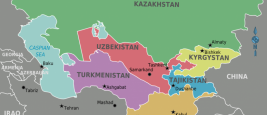 Map of Central Asia