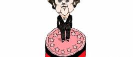 A. Merkel. Dessin de Mayk paru dans Sydsvenskan, Malmö, repris par Courrier International, 13.03.2015