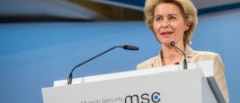 Minister of Defense von der Leyen at the Munich Security Conference