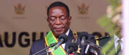 Emmerson Mnangagwa, président du Zimbabwe