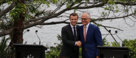 Emmanuel Macron and Malcolm Turnbull    Credits: Embassy of France in Australia