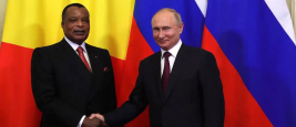 President of Russia Vladimir Putin and President of Republic of the Congo Denis Sassou-Nguesso, Moscow, May 23, 2019.
