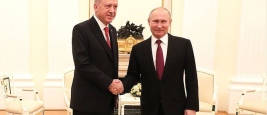 Turkey's President Recep Tayyip Erdogan and Russian President Vladimir Putin, Moscow, January 23, 2019