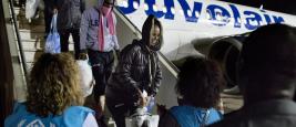 Accueil de réfugiés évacués de Libye