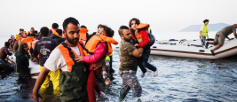 Greece: Refugees arrive on the shores of the island of Lesbos