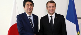 Emmanuel Macron and Shinzo Abe, September 2017