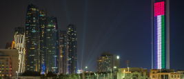 Beautiful view of Abu Dhabi city Famous Landscape.