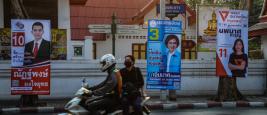 Bangkok, Thaïlande - 13 février 2019: Affiches de campagne