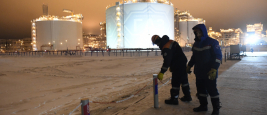 Port Sabetta, Yamal, Russia, December 9, 2018, Yamal - LNG natural gas production and transportation plant