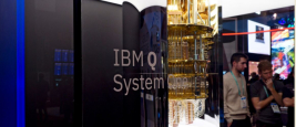 Las Vegas, January 9, 2020: Closeup of IBM Q System One computer on display at the annual Consumer Electronics Show