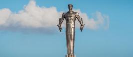 Moscou, 21 février 2020 : monument de Yuri Gagarin