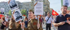 """Moscou, défilé du """"Régiment immortel"""", mai 2016"""
