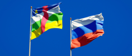 Russian and Central African flags
