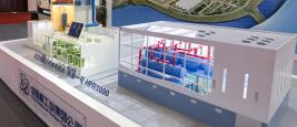 Modèle du Hualong Pressurized Reactor 1000, HPR 1000, exposé sur le stand de la China National Nuclear Corporation lors de la conférence Engine China 2017.
