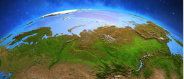 Surface de la planète Terre vue depuis un satellite
