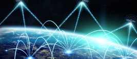 Échange de données par réseau et satellite